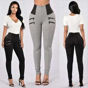 Image 2 - Mallas S XXL de cintura alta para Mujer, Leggings elásticos negros, Sexy, ajustados, informales, talla grande