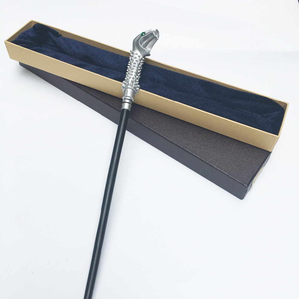 цены Colsplay Metal Core Newest Quality Deluxe COS Lucius Malfoy Magic Wands/Stick with Gift Box Packing Harry Potter