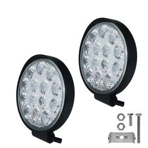 Image 3 - Car Light 4 Inch Rounded 4200LM Led 12V 24V Work Light Bar Driving Pods Spot Beam Work Lamp for Off Road Suv Car Work Lights