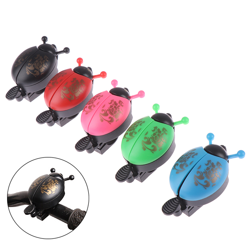 Mini Cartoon Ladybug Bike Bell Alarm Horn Bicycle 21-23mm Handlebar Bell Ring