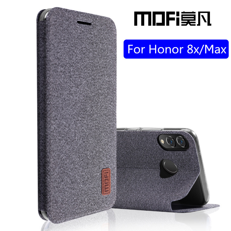 for Huawei honor 8x max case honor8x flip cover silicone back coque shockproof phone case fundas MOFi original honor 8x case Flip Cases     - title=