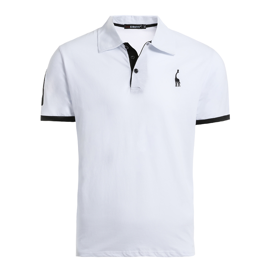 5 pièces ensemble Polo hommes solide Slim Fit manches courtes Patchwork 100% coton Polo chemise hommes mode Streetwear - 5