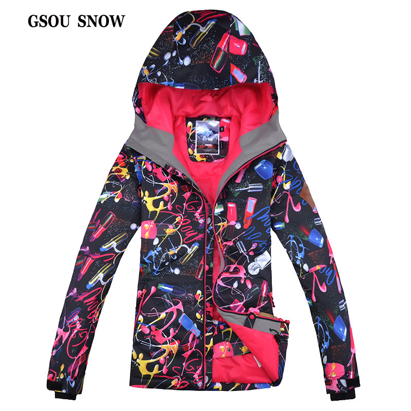 Gsou Snow Ski Jacket Outdoor Waterproof Windproof Breathable Snowboard Jacket Bright Color Snow Wear Winter Ski Jacket Women's marmot storm shield jacket bright navy