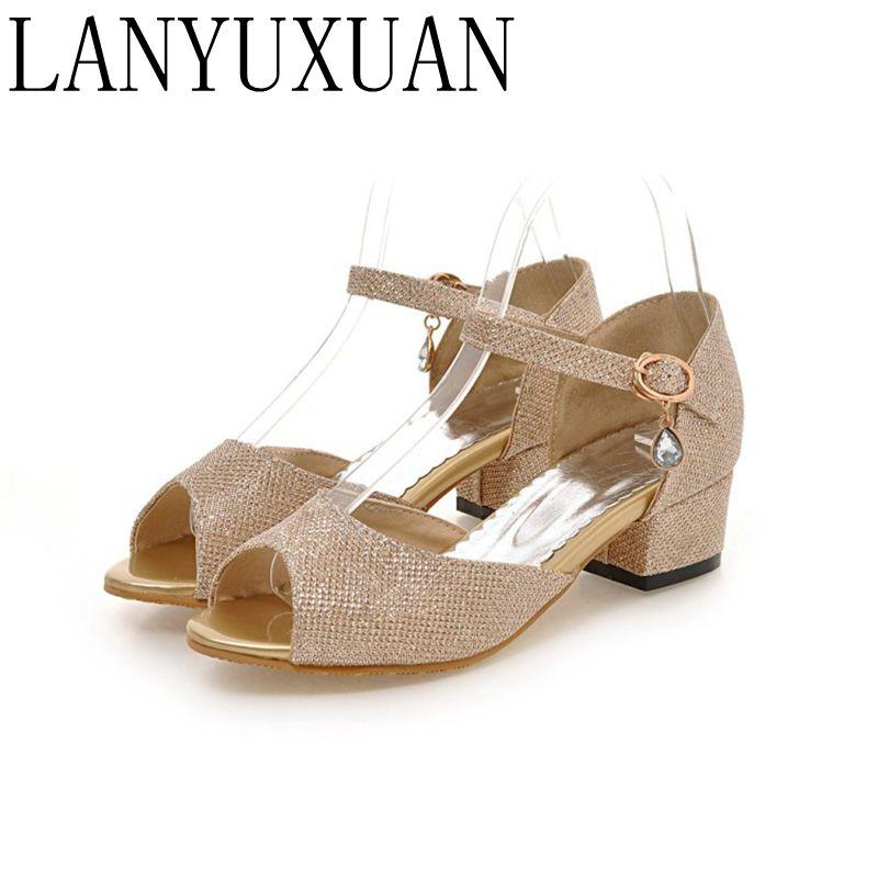 2017 Dames 43 Talons Sapato blanc 34 Pompes Lady M11 Chaussures Noir Sandales Taille À or Grande Hauts Feminino Gladiateur Femmes dhCsQxtr