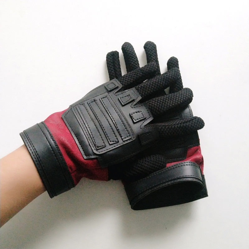 Deadpool 2  gloves Cosplay Accessory Wade Winston Wilson Fancy leather cosplay gloves with Velcro adjusts wrist size