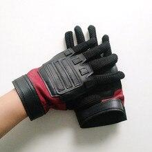 Deadpool 2 guantes Cosplay de Wade Winston Wilson de cuero de lujo de  cosplay guantes con Velcro se ajusta tamaño de la muñeca 59f940b6d3e
