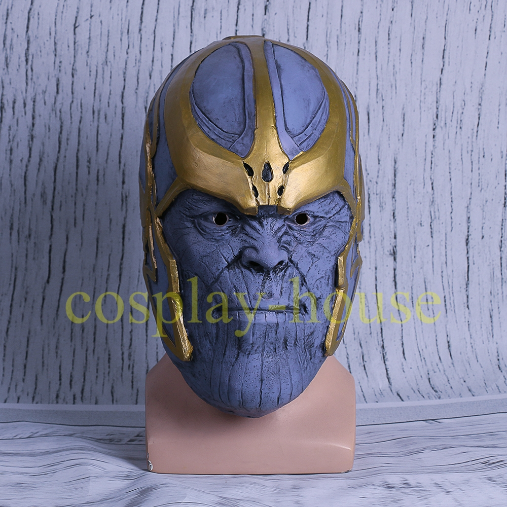 Halloween New 2018 Avengers: Infinity War Thanos Cosplay Helmet Mask Full Latex Xmas Gift