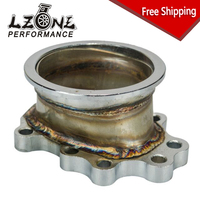 FREE SHIPPING TURBO ADAPTOR FLANGE FORT25 T28 GT25 GT28 8 BOLT to 3 v band TURBO OUTLET DOWNPIPE FLANGE ADAPTER