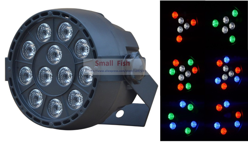 Фото Eyourlife Hot 2015 1PC DJ PAR 12 x 3W LED LIGHT 36 watt RGB stage lighting engineering plastic shell DMX disco home party light