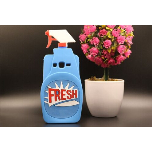 official photos 96b81 a85f7 US $5.85 |Blue Fresh Couture Eau de Toilette Windex Cleaning Spray Bottle  Cover Silicone Case for Samsung Galaxy Grand Prime G530 G5308 on ...