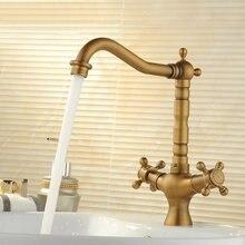 2017, распродажа torneira Cozinha torneira Кухня кран Freeshipping бассейна кран для ванной двойная ручка Кухонная мойка латунь вращения