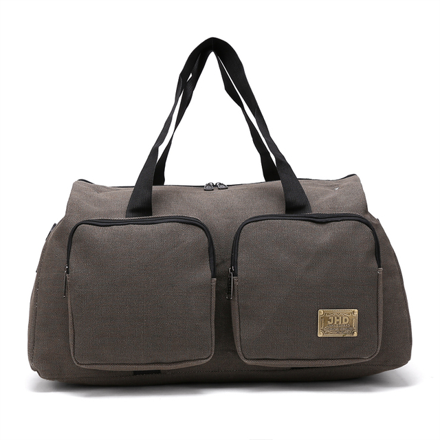 Brown Custom Durable Canvas Travel Luggage Bag Duffle Promotional Gift