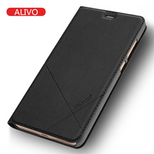 ALIVO Brand For Xiaomi Redmi Note 4 Pro Prime Case Leather Flip Protector Cover Redmi Note4 Mobile Phone Cases Luxury Accessory