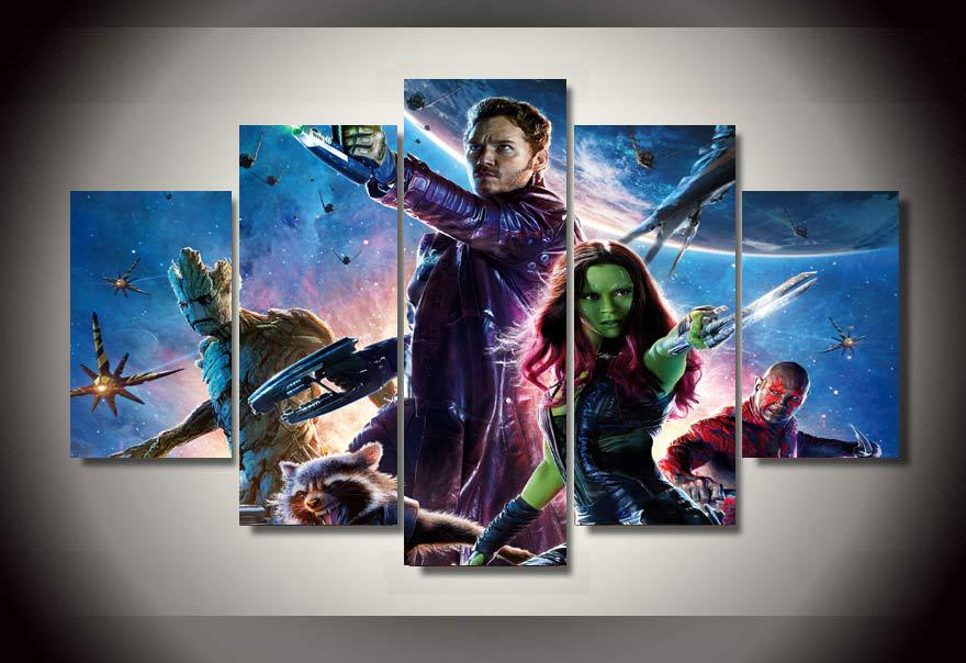 Modern Decorative Picture Guardians Of The Galaxy Painting Wall Art ChildrenS Room Decor Print Poster Picture Canvas w0430