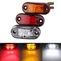 10pc 24/12v Led Side Marker Blinker Lights for Trailer Trucks  Piranha Caravan Side Clearance Marker Light Lamp  Amber Red White