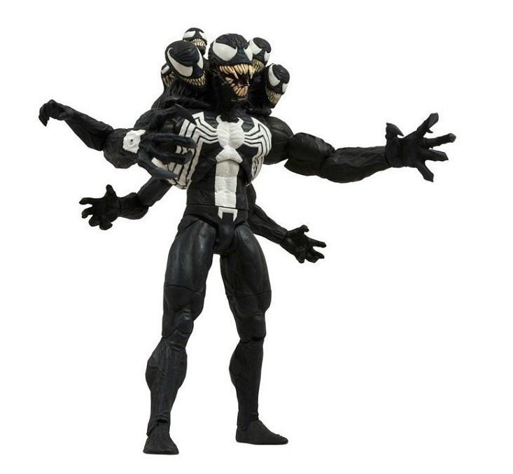 SAINTGI Spider-Man Amazing Marvel PVC Action Figure Collectible 2 Styles Avengers SELECT Venom 20cm Face Villain Model