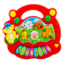Baby Kids Toy Musical Instrument Cartoon Musical Educational Piano Animal Farm Developmental Music Toys for Children Gift