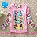Banderas de la marca 2016 nueva ropa del bebé roupa infantil Camisetas de dibujos animados de manga larga camiseta de los niños ropa desgaste superior T2606 #