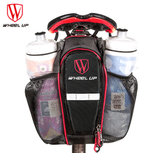 WHEEL UP 2 Pockets Bike Bags Nylon Waterproof Saddle Bag MTB Road Bicycle Seat Tail Pouch Bottle package Cycling Accessories