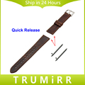 22mm Quick Release Strap for Asus ZenWatch 1 2 Men WI500Q WI501Q LG G Watch W100 W110 Urbane W150 Genuine Leather Band Bracelet