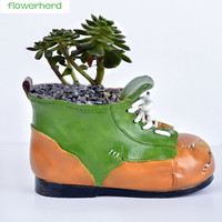 Shoe shaped mini Desktop Plant Pot Bonsai Planter Porcelain Flower Pot Home Decor