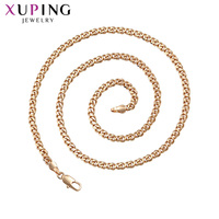 Xuping Fashion New Arrival Design Big Long Gold Color Plated No Stone Necklace Women Jewelry Gift S193,1 45535