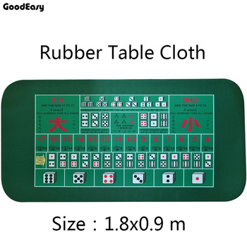 1.8*0.9m Green Rubber Poker Table Mat Poker Gaming Mat Table Cloth Game TableCloth Sic Bo with Chinese/English
