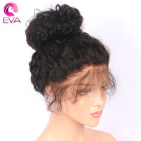 Eva Hair 180 Density Straight Full Lace Human Hair Wigs Pre Plicked Natural Hairline With Baby