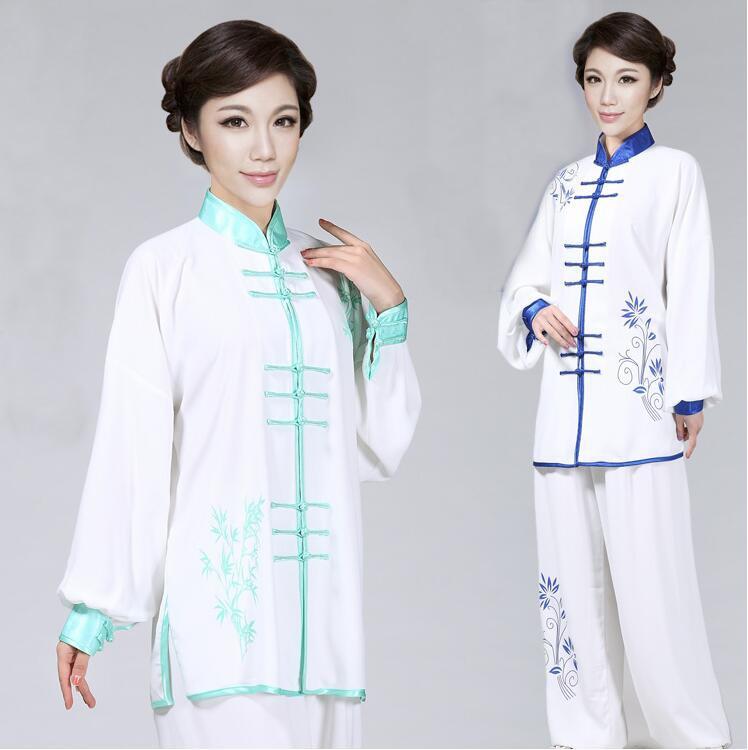 Chinese Folk Clothing Tai Chi Costume Unisex Martial Arts Uniform WuShu Kung Fu Outfits Exercise Stage Performance Costumes