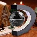 Moda Decoración Del Hogar Tellurion Forma de Globo de la Levitación Magnética Flotante LED Luz Mapa Del Mundo Tellurion Negro/Azul/Regalos