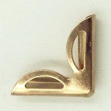100Pcs Rose Gold Hollow Book Menus Albums Folders Angle Metal Corners Scrapbook Crafts Making Hardware Protectors 23x16mm