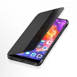 Image 4 - オリジナルhuawei社smart viewのカバー革保護カバー電話ケースP20 P20プロフリップケースハウジングスリープ機能ケース