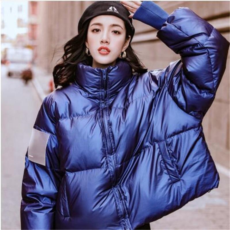 2018 Winter Original Design Gloria&Grace Blue/Red Christmas Waterproof Fashion Oversize Loose Warm Puffer Duck   Down   Jacket   Coat