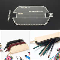 1 Set Acrylic Leather Template Home Handwork Leathercraft Sewing Pattern Tools Accessory Pen Pocket Pen Case Pattern 17*7cm