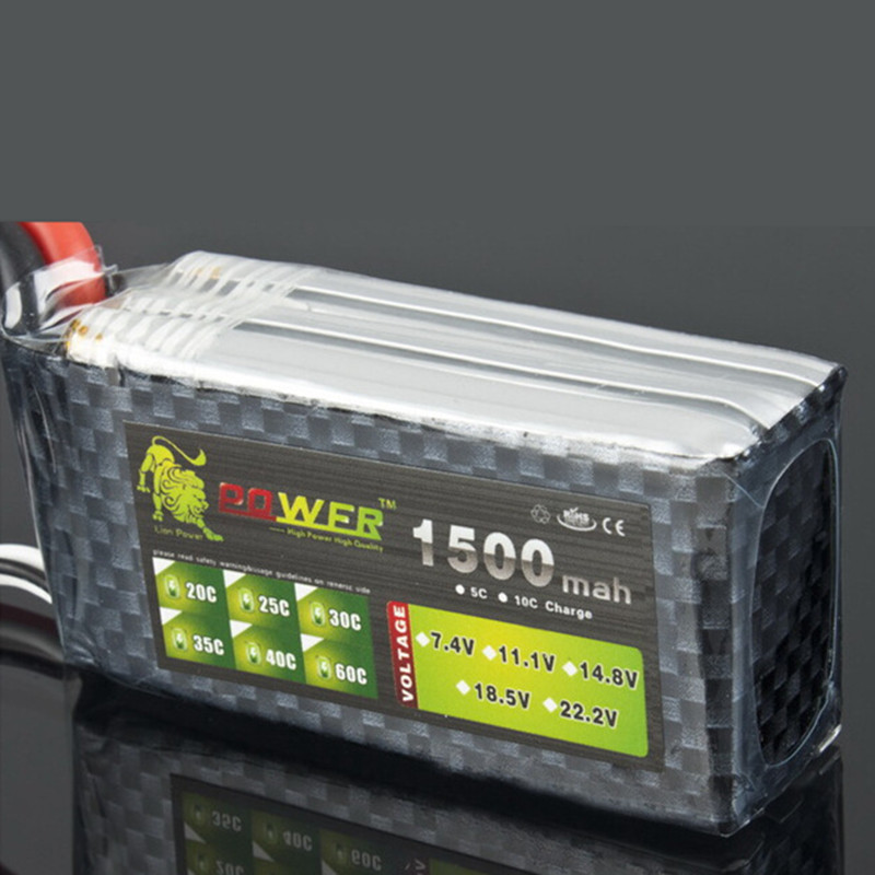 LION POWER 11.1V 1500MAH 35C T/XT60 Remote control model aircraft battery manufacturers Lithium Polymer battery