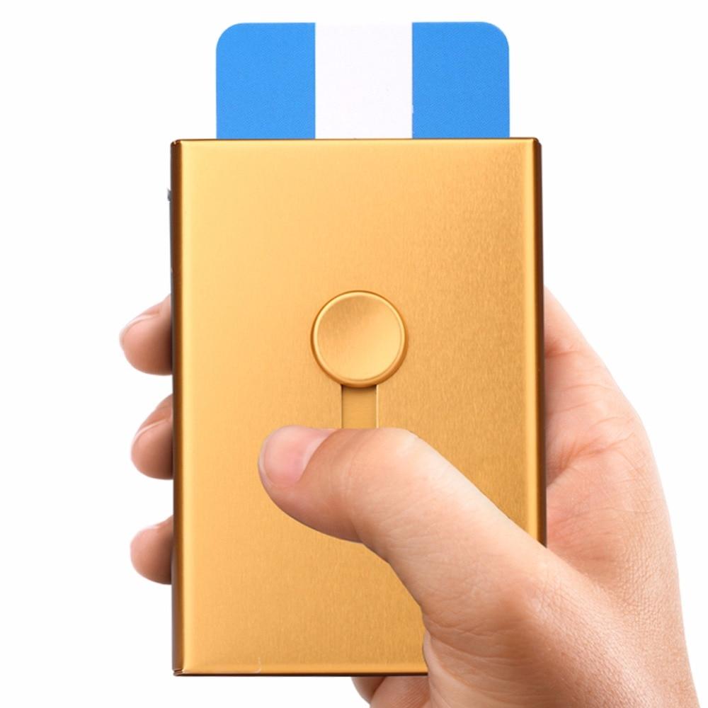 1 StÜck Zufällige Farbe Tragbare Manuell Drängen Metall Visitenkarte Fall & Karton Für Büromaterial Billigverkauf 50%