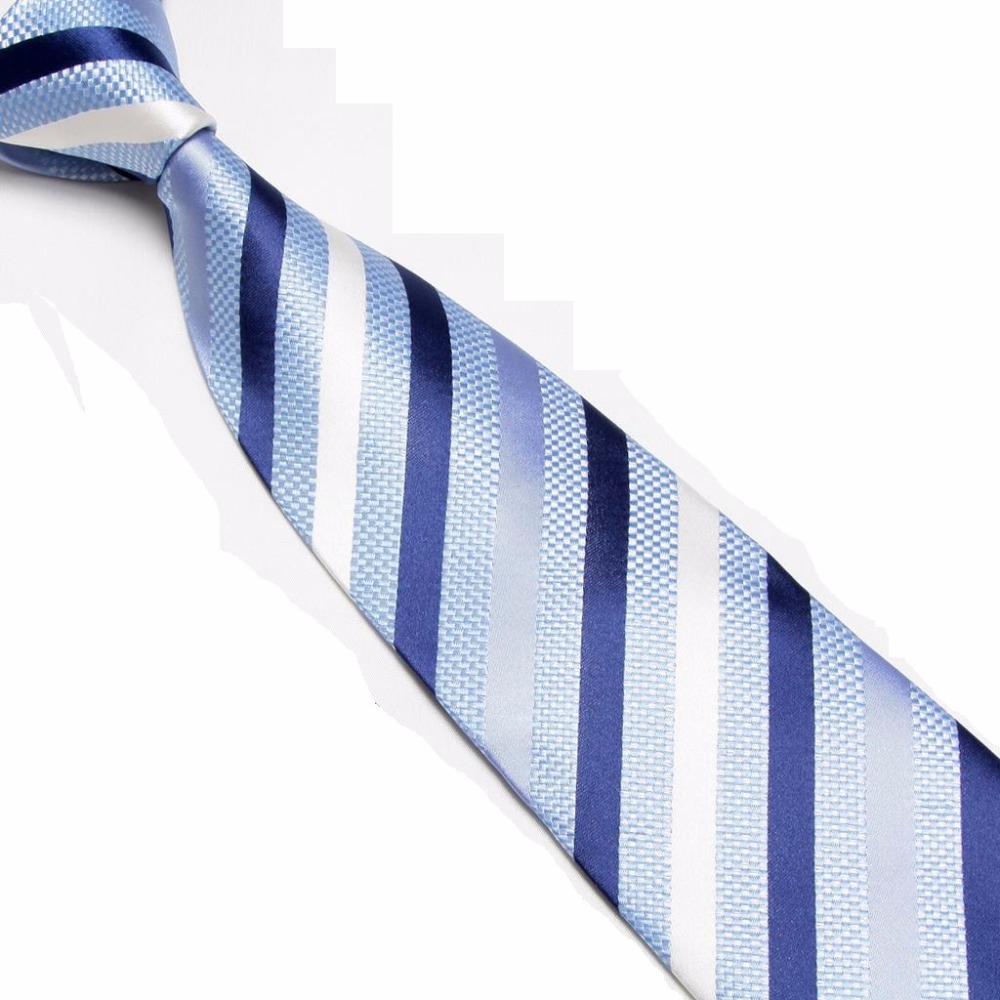 HOOYI 2018 Microfiber mens neckwear Stripe neck ties
