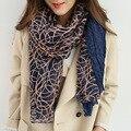 Multi цвета чистая brid шарфы лоскутное моды полые леди шарф хлопка случайные шарфы женский осени зимы шаль пашмины