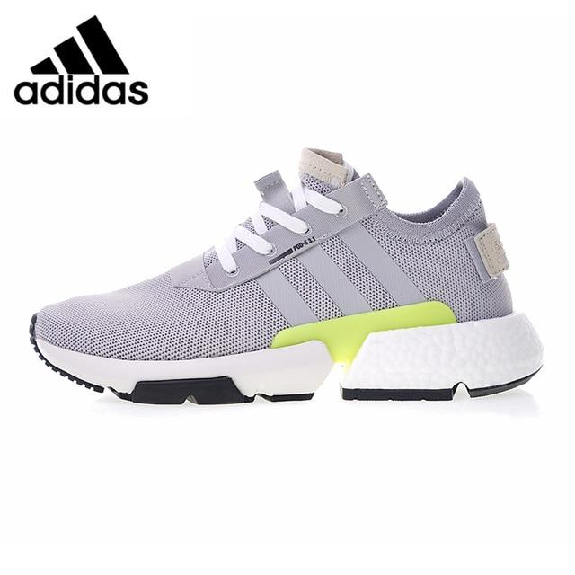 Adidas Originals P O D Men S And Women S Running Shoes Grey Green