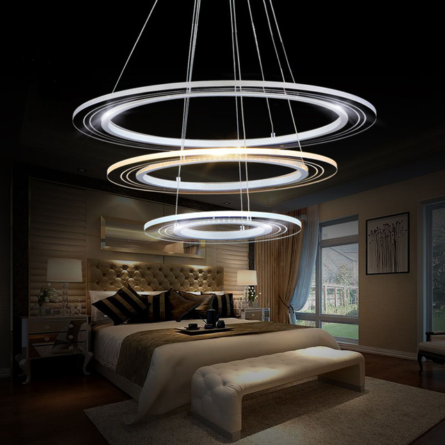 Led Modern Chandelier Lighting Fixture DIY Simple Creative Lamp Lustres  Acrylic Dining Living Room Home Office