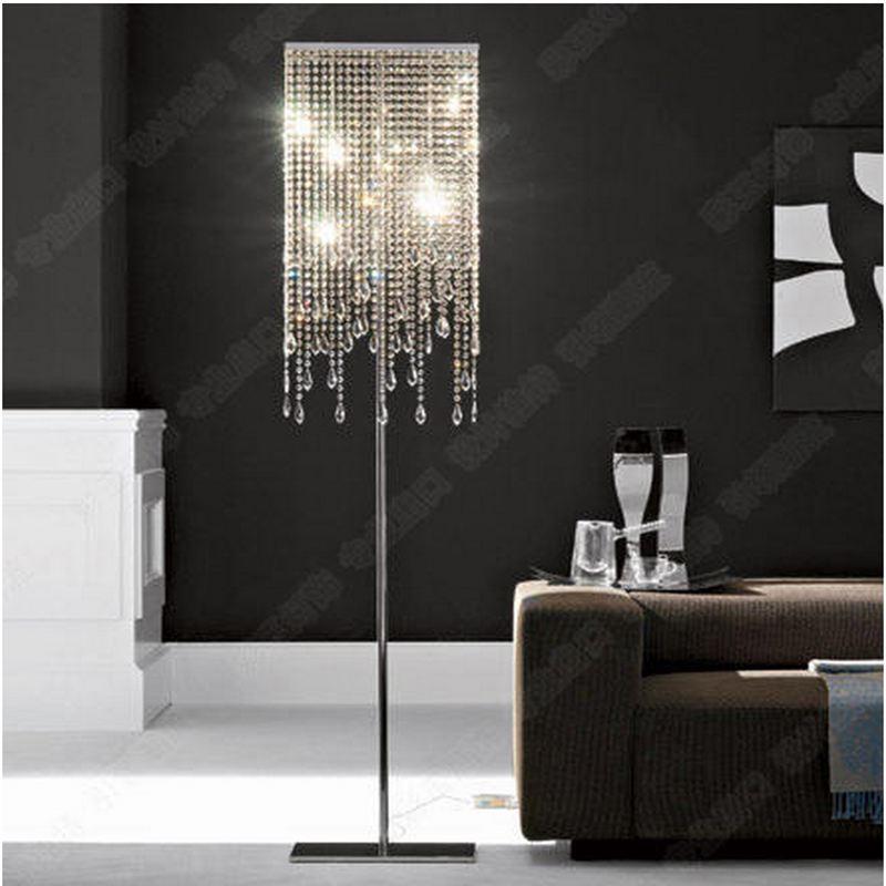 Modern Luxury Crystal Living Room Floor Lamps Bedroom ...