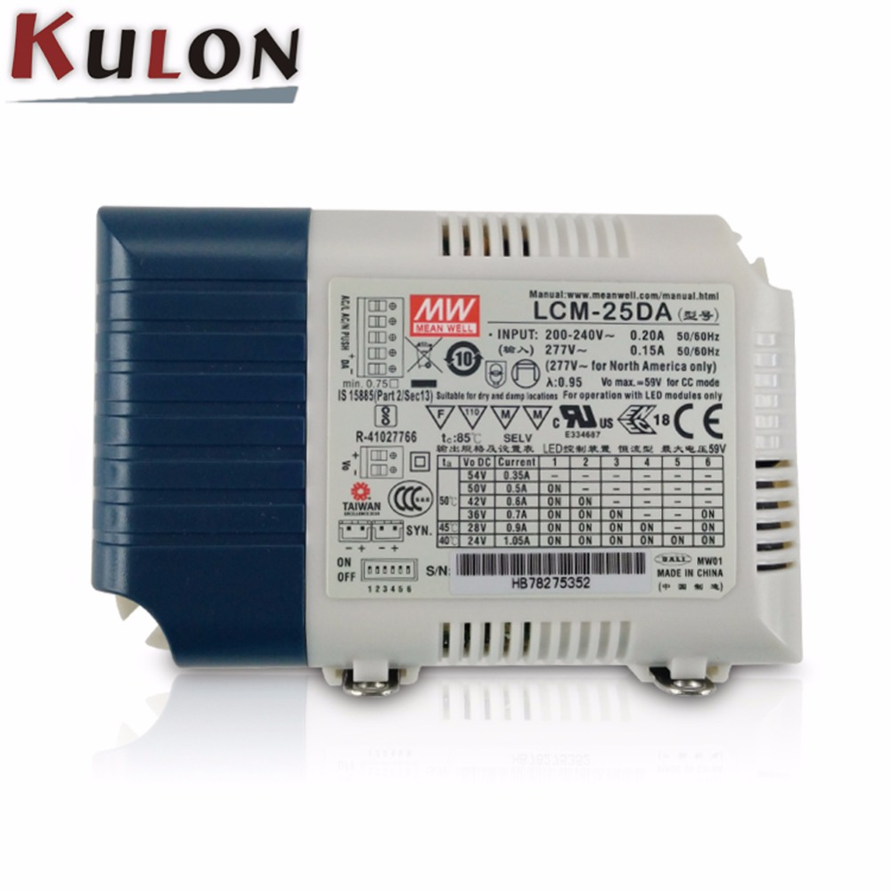 Mean well Power Supply LCM-25DA 25W Multiple Output push dimming with DALI interface for Indoor lighting meanwell power supply lcm 40da 40w multiple stage push dimming with dali interface for indoor lighting