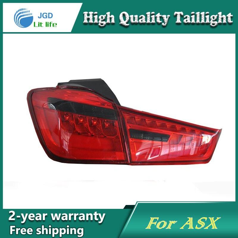 Автомобиль светодиодные задние фонари Парковочные тормоза задний бампер Отражатели лампы для Mitsubishi ASX 2013 Красный туман стоп сигналы автомобиль стиль