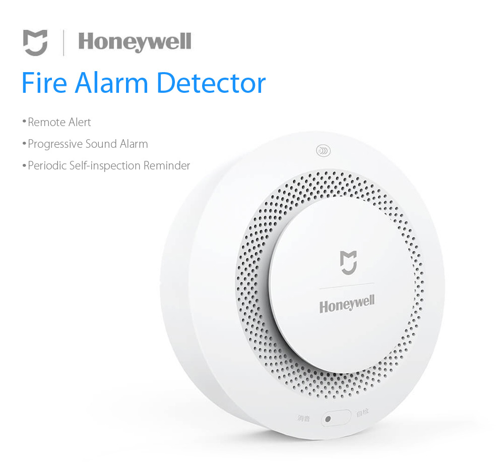 Original Xiaomi Mijia Honeywell Smoke Detector Fire Alarm Smart Home Remote Control Work With Gateway Audible Self Check  (5)