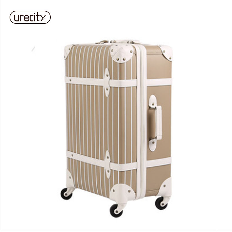 2018 new Universal wheels luggage travel suitcase password large spinner trolley luggage brake wheel hard suitcase free shipping