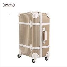 цена на 2018 new Universal wheels luggage travel suitcase password large spinner trolley luggage brake wheel hard suitcase free shipping