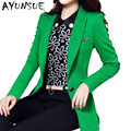 Big Size 4XL Blazer Feminino 2017 Spring New Long Sleeve OL Korean Style Women Suits Elegant Slim Long Blazer Women AW0331