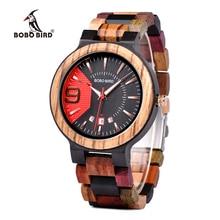 Бобо птица Q13 Дата дисплей бизнес часы для мужчин смешанные деревянные кварцевые наручные часы в деревянной подарочной коробке relojes hombre