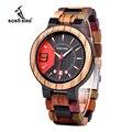 BOBO VOGEL Q13 Datum Display Business Uhr für Herren Gemischt Holz Quarz Armbanduhr in Holz Geschenk Box uhren hombre