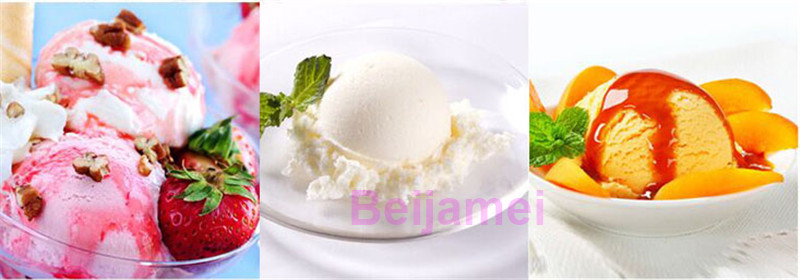 BEIJAMEI 1.5L Automatic Mini Ice Cream Machine for Household with Transparent Lid and Integrated Molding Ice Cream Barrel 4